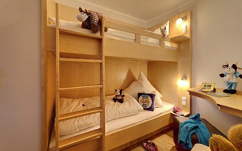 Kinderzimmer im Familienzimmer Geisslein im Wellnesshotel im Bayerischen Wald